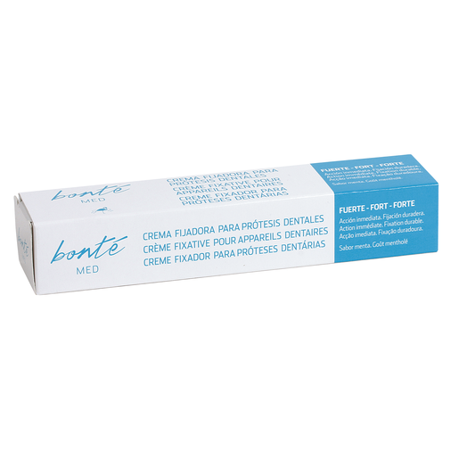 BONTE crema fijadora adhesiva acción inmediata para prótesis dentales tubo 40 ml