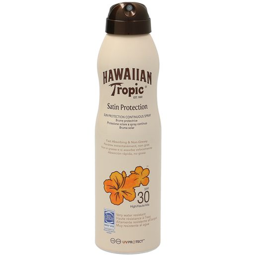 HAWAIIAN TROPIC bruma solar spf 30 protección alta spray 220 ml
