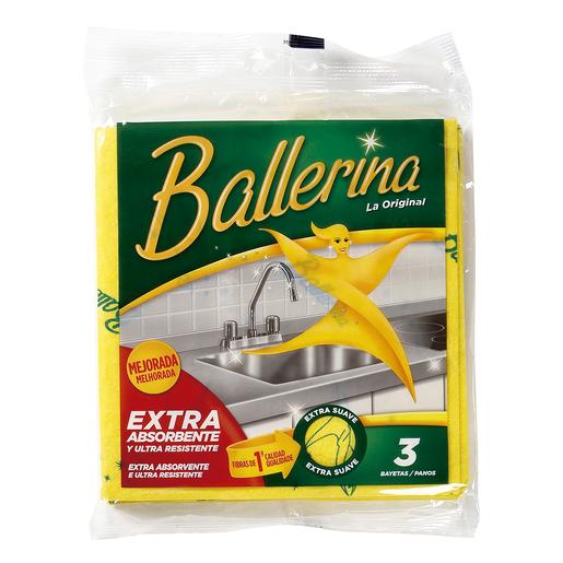 BALLERINA bayate amarilla super absorbente y extra suave bolsa 3 uds