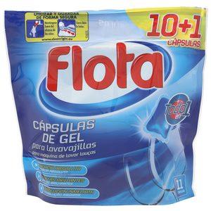 FLOTA lavavajillas máquina todo en uno en cápsulas 10 + 1 uds