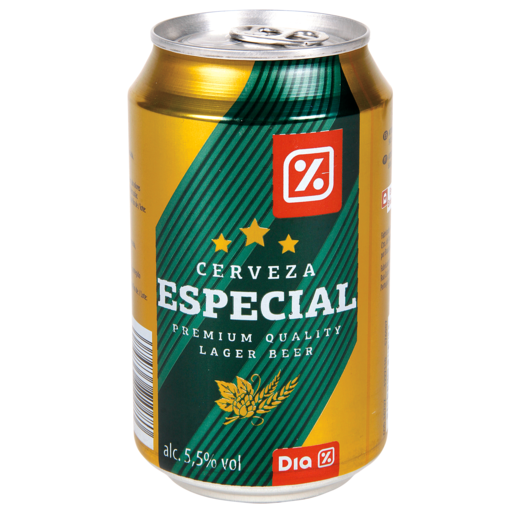 DIA cerveza rubia especial lata 33 cl