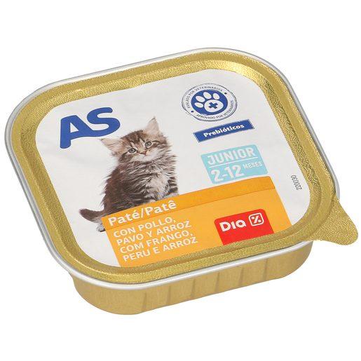 AS alimento para gatos junior pollo/pavo tarro 100 gr