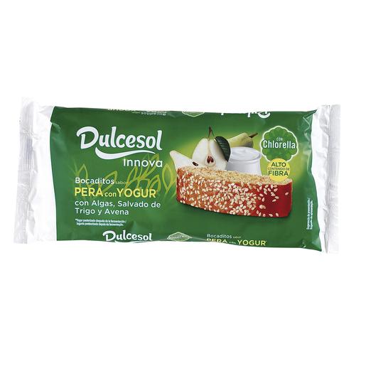 DULCESOL bocaditos sabor pera con yogur paquete 210 gr
