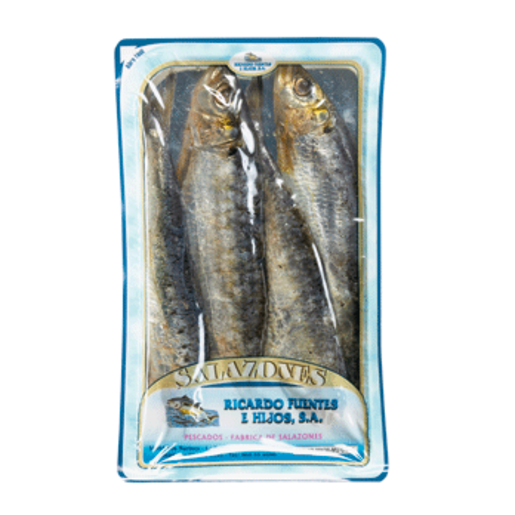 RICARDO FUENTES E HIJOS sardinas saladas envase 250 gr