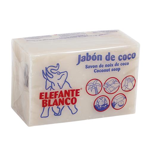 ELEFANTE BLANCO jabón pastilla de coco 250 gr