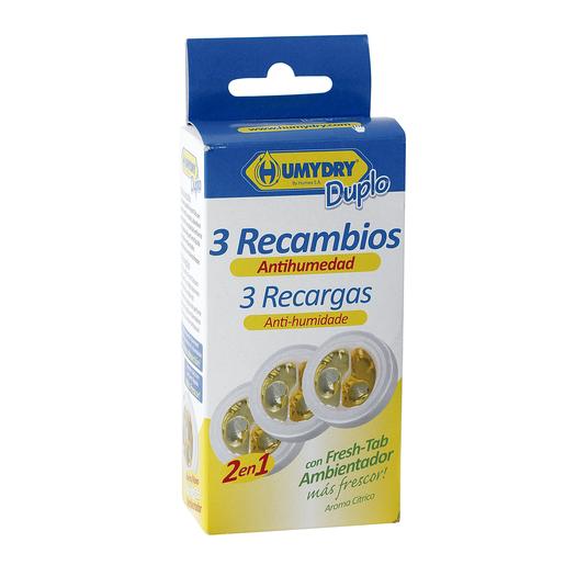 HUMYDRY ambientador antihumedad aroma limón recambio 3 uds