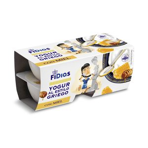 DIA FIDIAS yogur griego con miel pack 4 unidades 125 gr