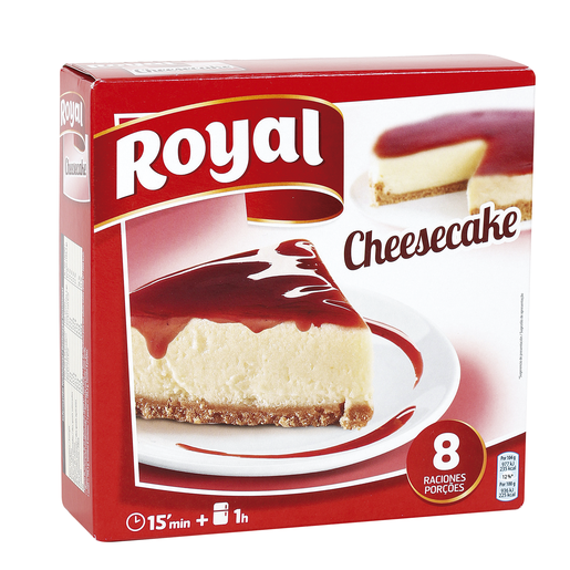 ROYAL para preparar pastel de queso con sirope de fresa 8 raciones 325gr