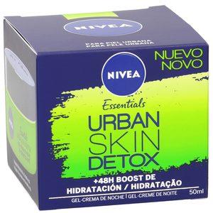 NIVEA Essentials crema de noche hidratante urban detox tarro 50 ml