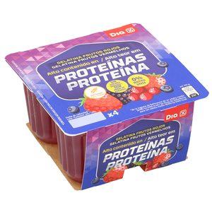 DIA gelatina sabor frutos rojos pack 4 unidades 100 gr
