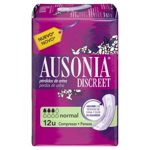 AUSONIA Discreet compresas de incontinencia normal paquete 12 uds
