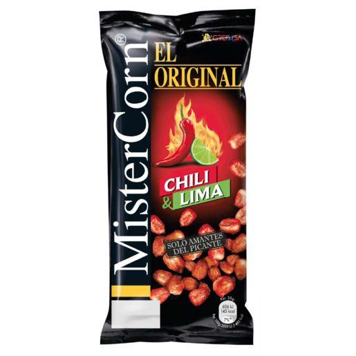 GREFUSA Mister corn maíz frito chili y lima bolsa 130 gr