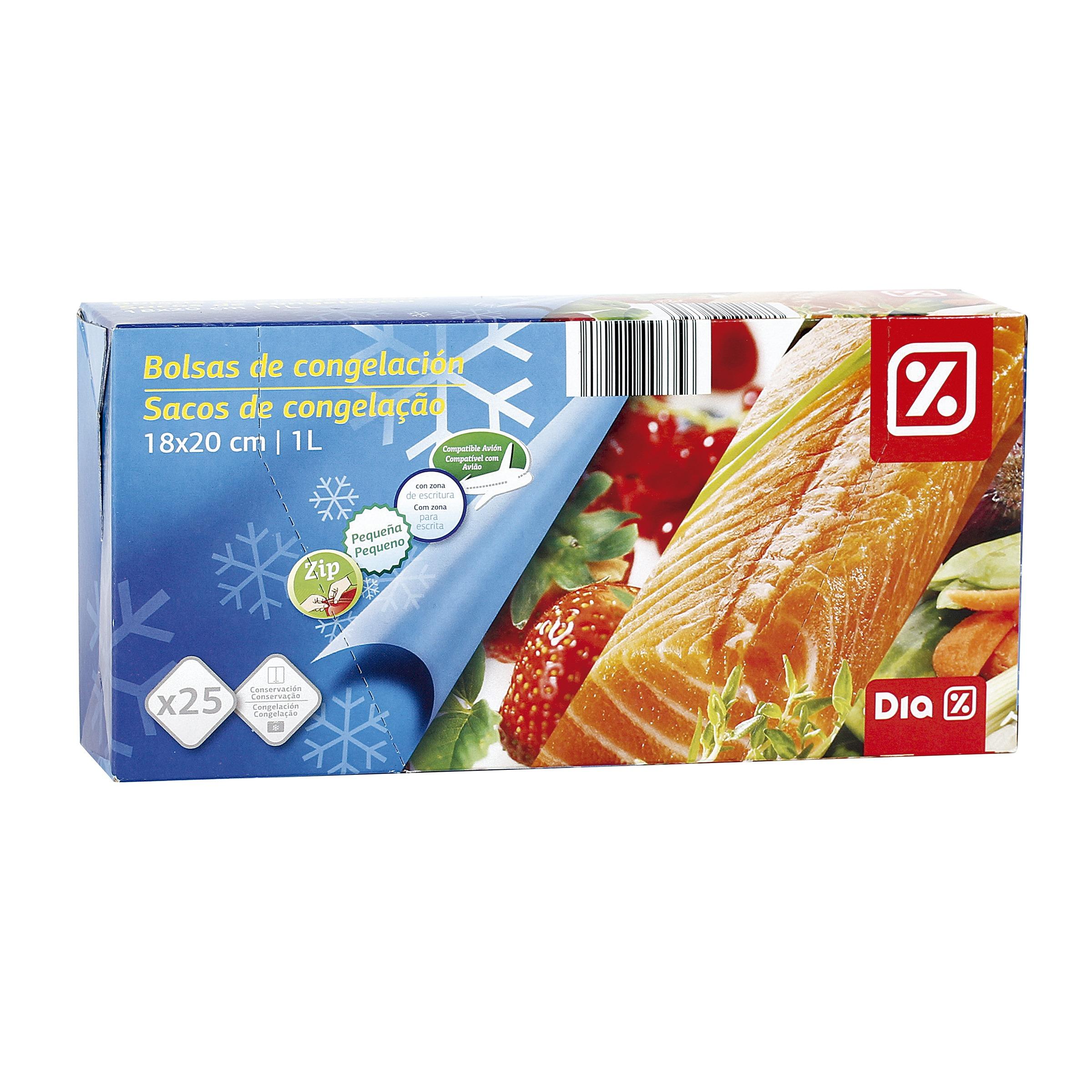 Dia bolsas de congelaci n zip peque a paquete 25 uds - Bolsas congelacion ...