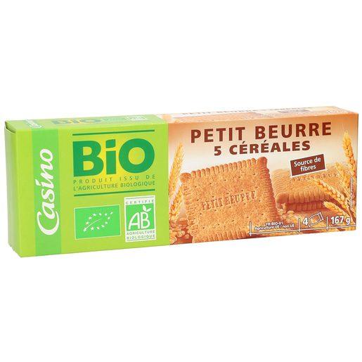 CASINO BIO galletas 5 cereales con mantequilla paquete 167 gr