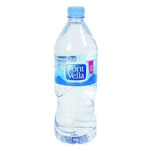 FONT VELLA agua mineral natural botella 1 lt