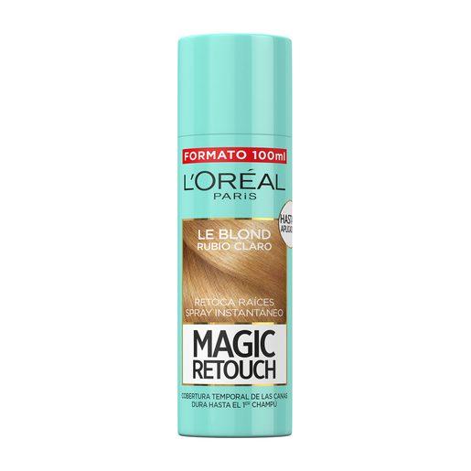 MAGIC RETOUCH tinte rubio claro retoca raíces instantáneo spray 100 ml