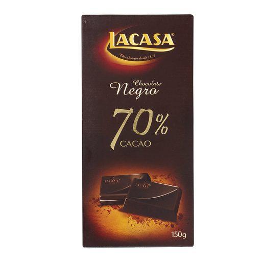 LACASA chocolate negro 70 % cacao tableta 150 gr