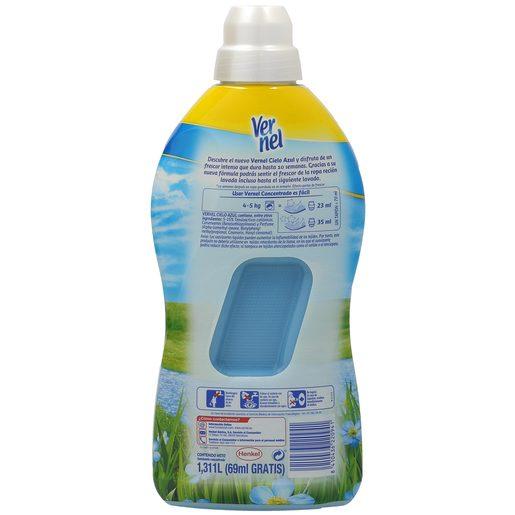 VERNEL suavizante concentrado azul botella 54 lavados