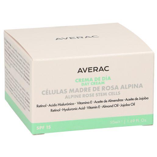 AVERAC crema facial de día spf 15 con células madre de rosa alpina tarro 50 ml