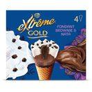 NESTLE Extreme gold helado bombón fondant brownie y nata caja 4 uds 284 gr