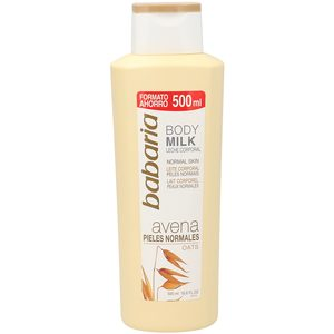 BABARIA leche corporal avena pieles normales bote 500 ml