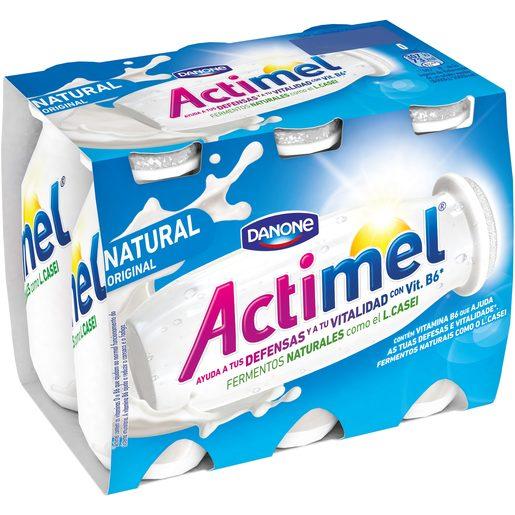 DANONE ACTIMEL yogur líquido natural pack 6 unidades 100 gr