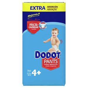DODOT Pants pañales 9-15 kg talla +4 paquete 56 uds