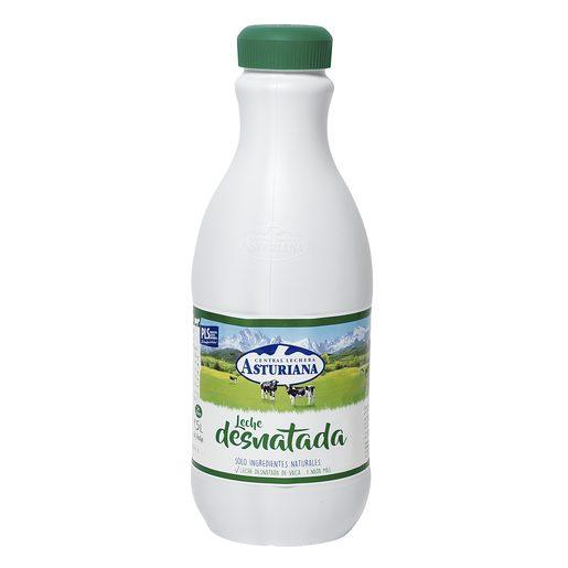 ASTURIANA leche desnatada botella 1,5 lt
