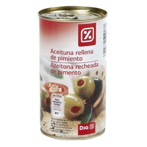 DIA aceitunas rellenas de pimiento lata 150 gr
