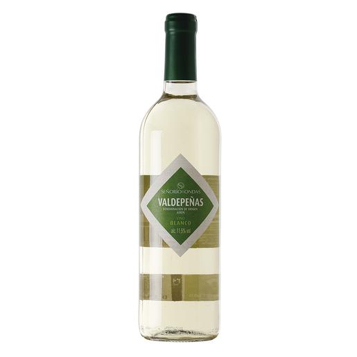 SEÑORIO DE ONDAS vino blanco DO Valdepeñas botella 75 cl
