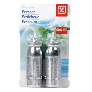 DIA ambientador mini spray aroma frescor recambio 2 uds