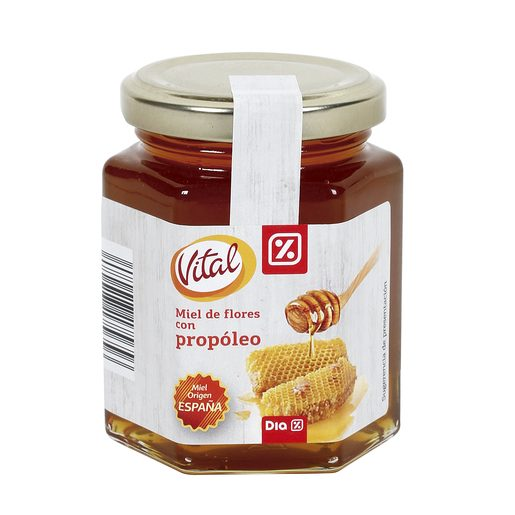 DIA VITAL miel de flores con propóleo frasco 250 gr
