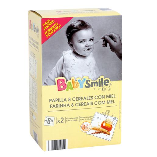 BABYSMILE papilla 8 cereales con miel caja 1200 gr