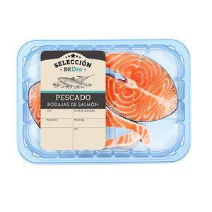 SELECCIÓN DE DIA rodaja de salmón bandeja 2 uds (peso aprox. 450 gr)