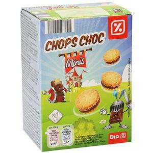 DIA mini galletas rellenas de chocolate chops choc caja 160 gr