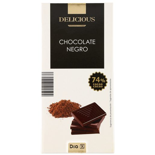 DIA DELICIOUS chocolate negro 74% tableta 100 gr