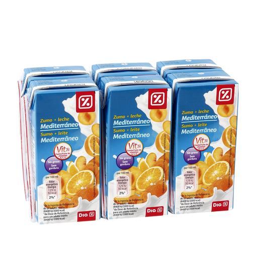 DIA bebida de frutas con leche mediterráneo pack 6 unidades 200 ml