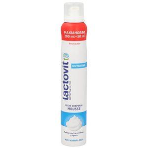 LACTOVIT leche mousse corporal nutritiva piel seca spray 200 ml
