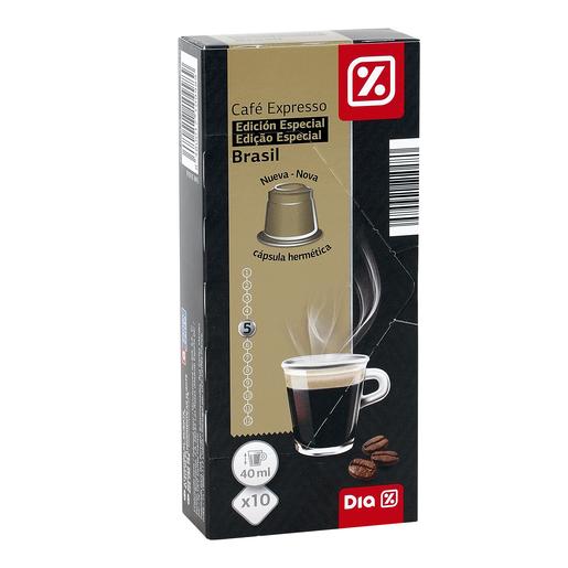 DIA café expresso brazil 10 cápsulas caja 53 gr