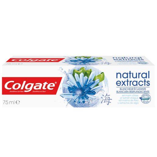 COLGATE pasta dentífrica natural extracts blancura resplandeciente tubo 75 ml