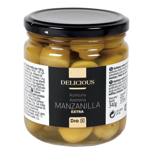 DIA DELICIOUSaceitunas manzanilla extra tarro 190 gr
