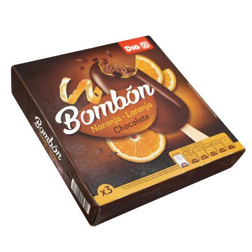 DIA helado bombón con naranja y chocolate negro caja 3 uds  219 gr