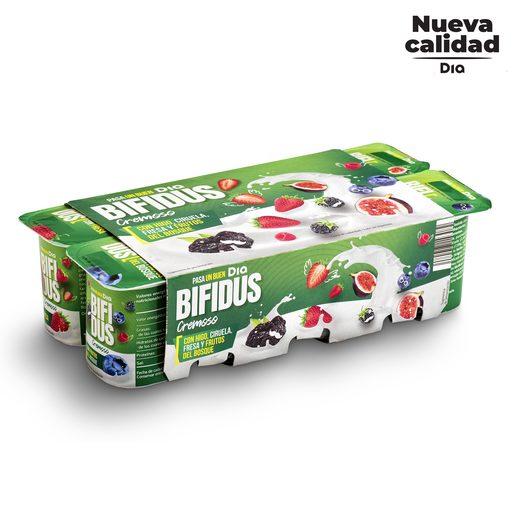 DIA BÍFIDUS cremoso de higo, ciruela, fresa y frutos del bosque pack 8 unidades 125 gr