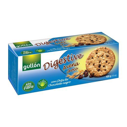 GULLON galleta digestive avena chocolate paquete 425 grs