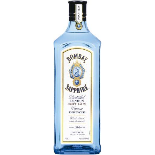 BOMBAY Sapphire ginebra botella 1 lt