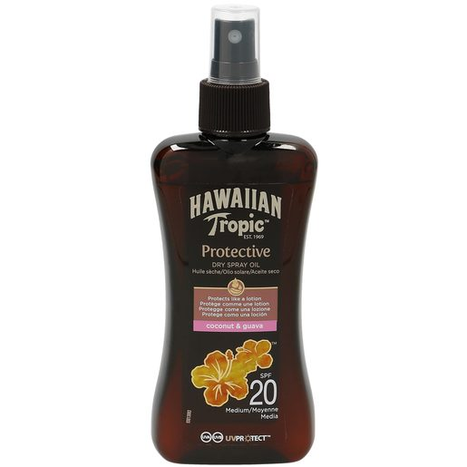 HAWAIIAN TROPIC aceite solar seco spf 20 spray 200 ml