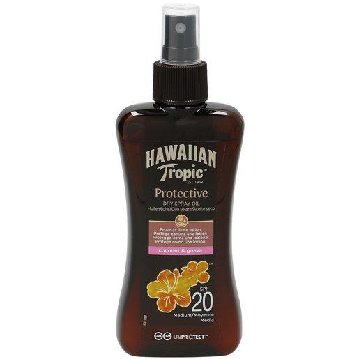 HAWAIIAN TROPIC aceite solar seco spf 20 spray 200 ml