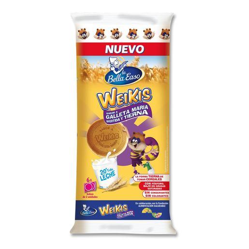LA BELLA EASO weikis sabor galleta maría bolsa 204 gr
