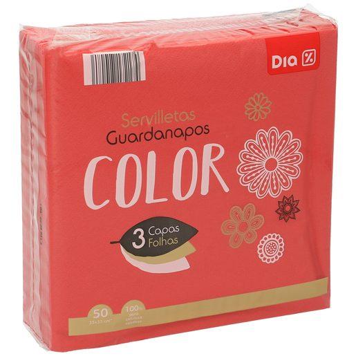 DIA servilletas rojas 3 capas 33x33 cm paquete 50 uds
