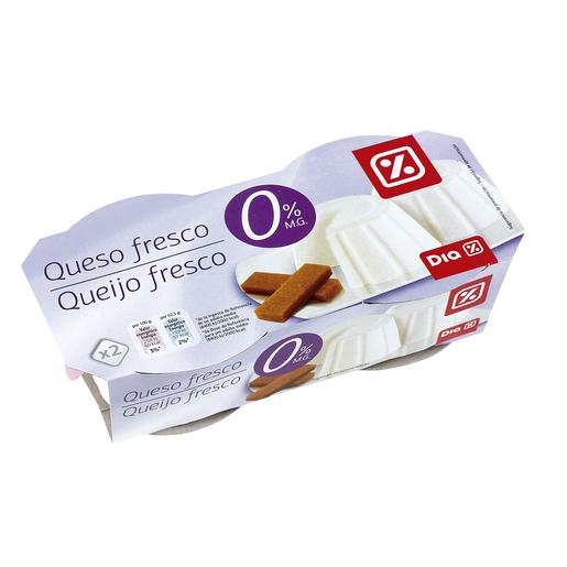 DIA queso fresco 0 % M.G pack de 2 x 250 gr